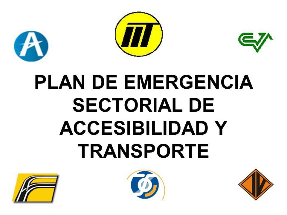 PLAN DE EMERGENCIA SECTORIAL DE ACCESIBILIDAD Y TRANSPORTE