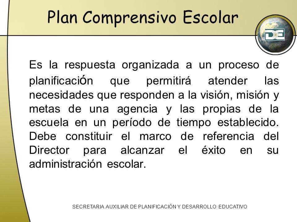 Es la respuesta organizada a un proceso de planificaci ó n que permitirá atender las necesidades que responden a la visión, misión y metas de una agen