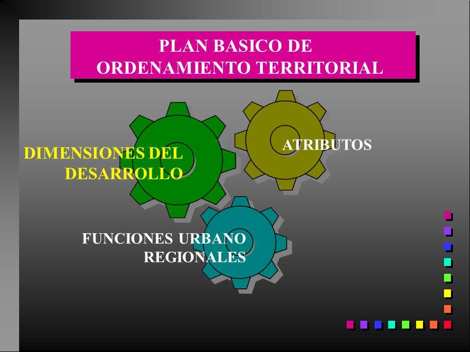 DIMENSIONES DEL DESARROLLO ATRIBUTOS FUNCIONES URBANO REGIONALES PLAN BASICO DE ORDENAMIENTO TERRITORIAL