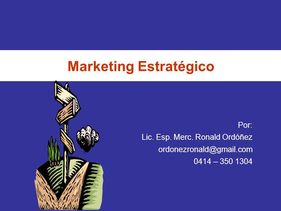 Marketing Estratégico Que es el Plan de Marketing 5.