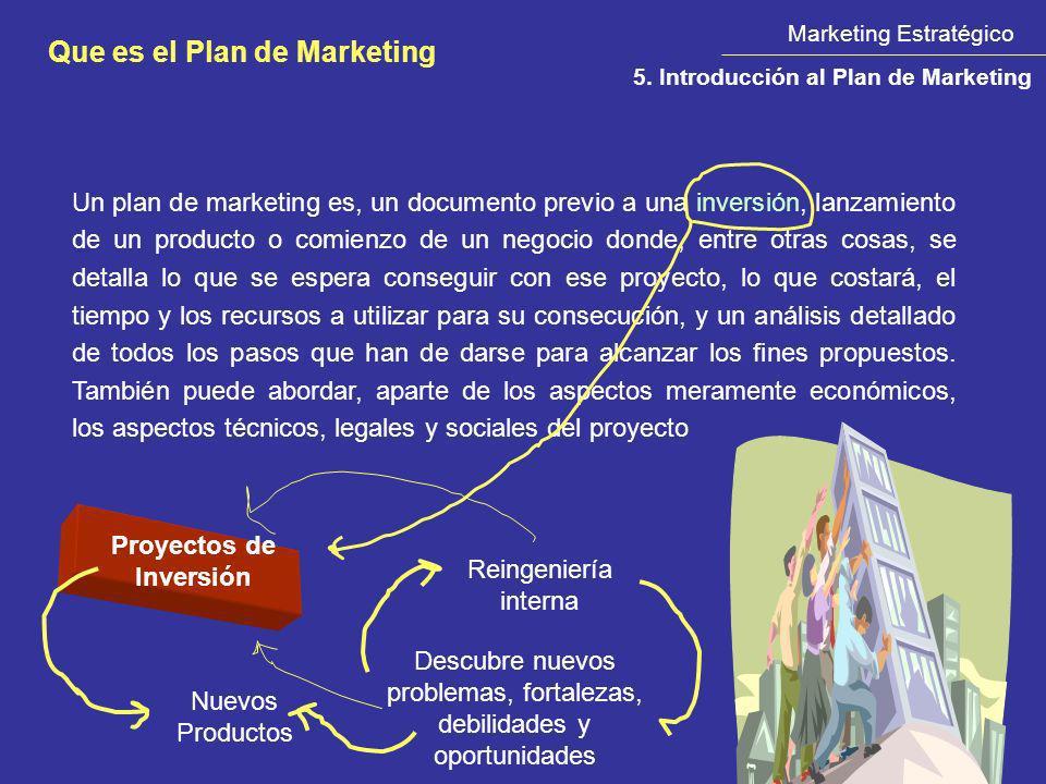 Un plan de marketing es, un documento previo a una inversión, lanzamiento de un producto o comienzo de un negocio donde, entre otras cosas, se detalla