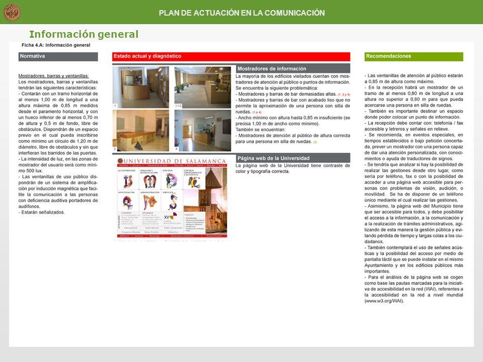 Información general PLAN DE ACTUACIÓN EN LA COMUNICACIÓN