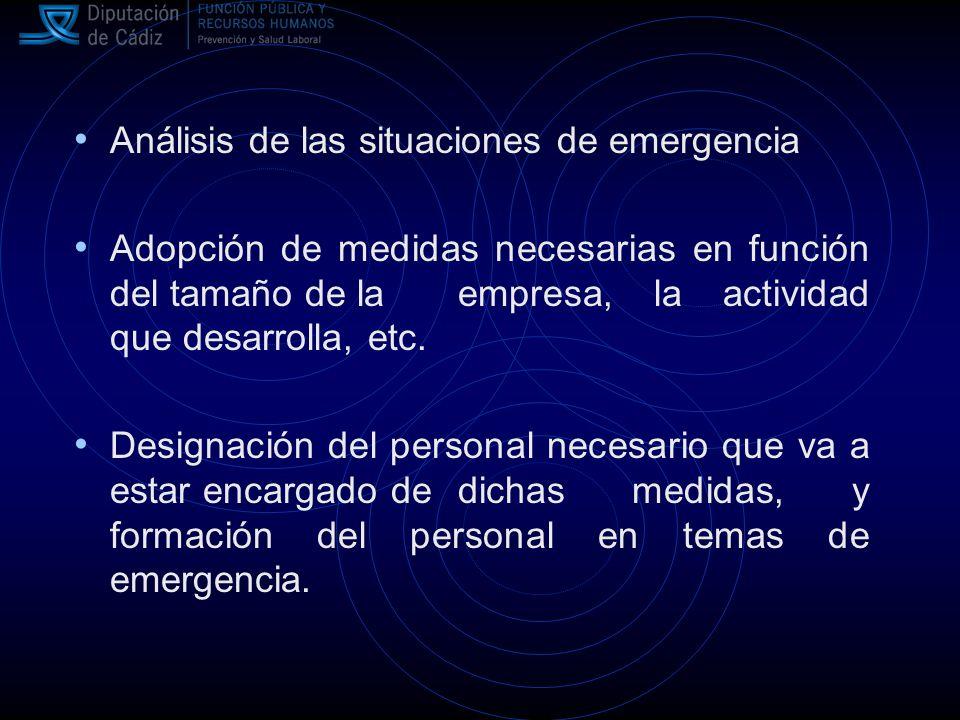 Revisión periódica Organización de las relaciones que sean necesarias con servicios externos a la empresa (asistencia médica de urgencia, salvamento y rescate, bomberos, policía, etc.).