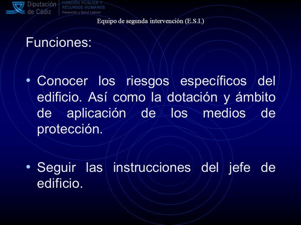 Funciones: Conocer los riesgos específicos del edificio.