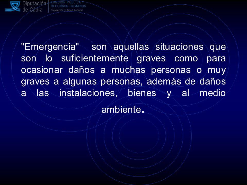 Comité de Emergencia Tiene como misión la implantación y mantenimiento del Plan de Emergencia.
