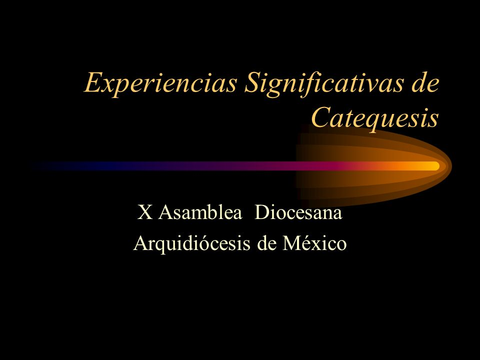 Experiencias Significativas de Catequesis X Asamblea Diocesana Arquidiócesis de México