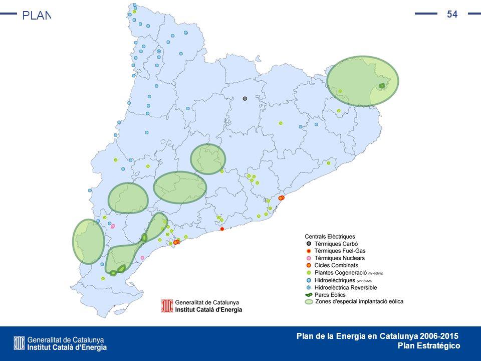 54 Plan de la Energía en Catalunya 2006-2015 Plan Estratégico PLAN DE INFRAESTRUCTURAS ENERGÉTICAS