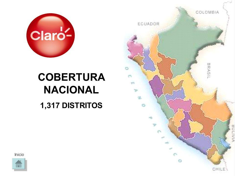 COBERTURA NACIONAL 1,317 DISTRITOS Inicio