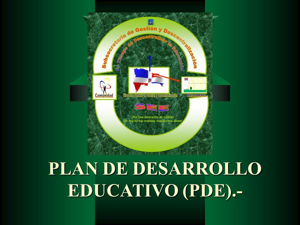 PLAN DE DESARROLLO EDUCATIVO (PDE).-
