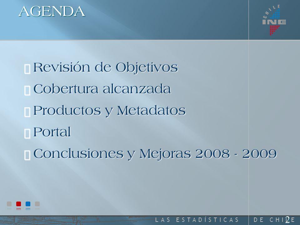 DE CHILELAS ESTADÍSTICAS Plan Nacional de Recopilación Estadística 2007 2008 ESTADO DE AVANCE