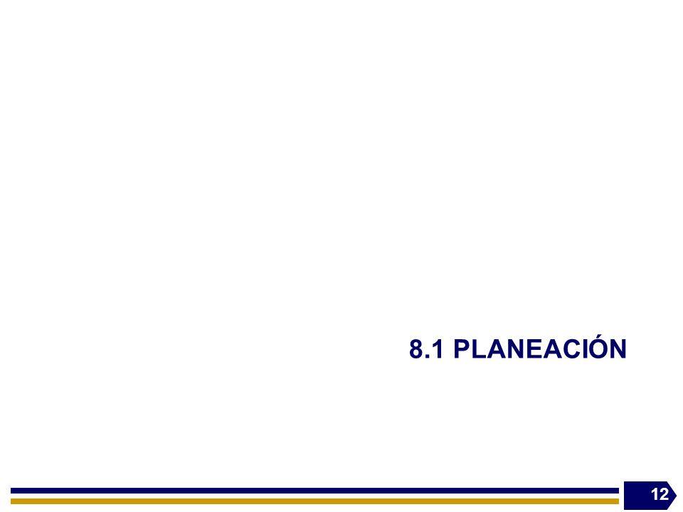 8.1 PLANEACIÓN 12