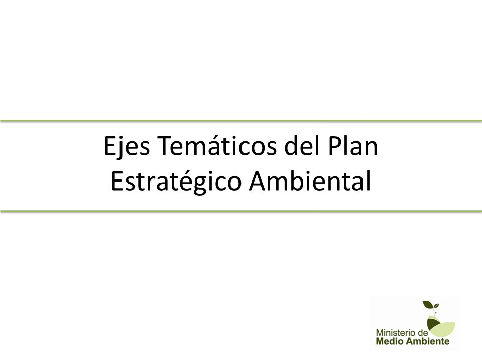Ejes Temáticos del Plan Estratégico Ambiental