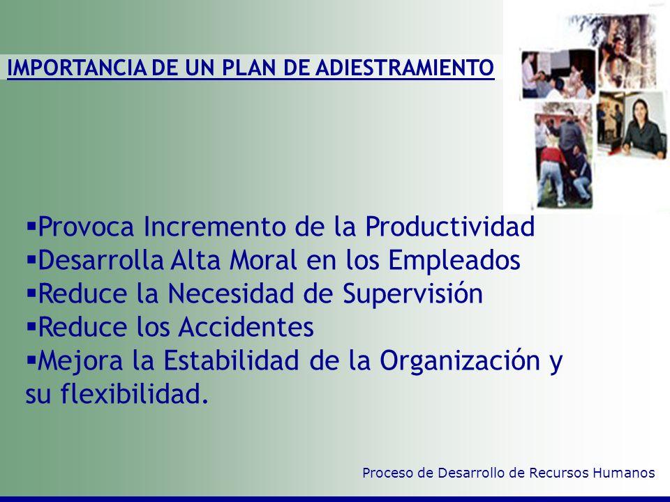 CONTENIDO: Importancia del Plan de Adiestramiento Etapas Consideraciones Básicas Seguimiento y Control Proceso de Desarrollo de Recursos Humanos