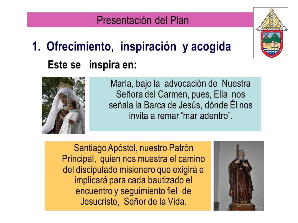 María, bajo la advocación de Nuestra Señora del Carmen, pues, Ella nos señala la Barca de Jesús, dónde Él nos invita a remar mar adentro. 1. Ofrecimie