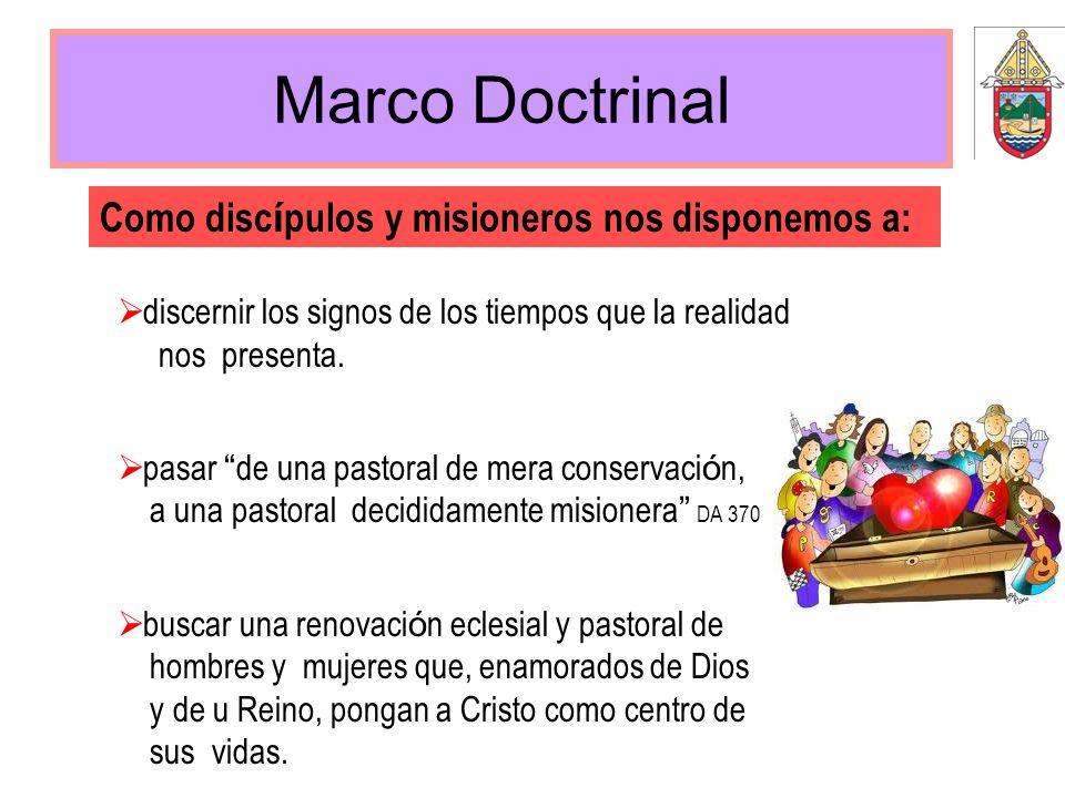 Marco Doctrinal discernir los signos de los tiempos que la realidad nos presenta. pasar de una pastoral de mera conservaci ó n, a una pastoral decidid