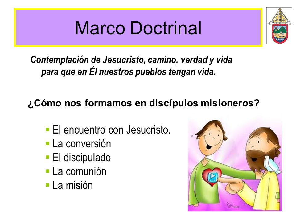Marco Doctrinal ¿Cómo nos formamos en discípulos misioneros? Contemplación de Jesucristo, camino, verdad y vida para que en Él nuestros pueblos tengan