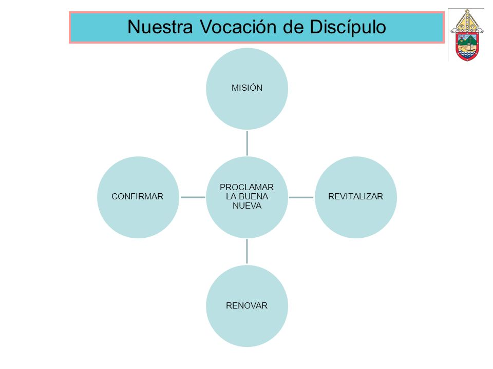 PROCLAMAR LA BUENA NUEVA MISIÓNREVITALIZARRENOVARCONFIRMAR Nuestra Vocación de Discípulo
