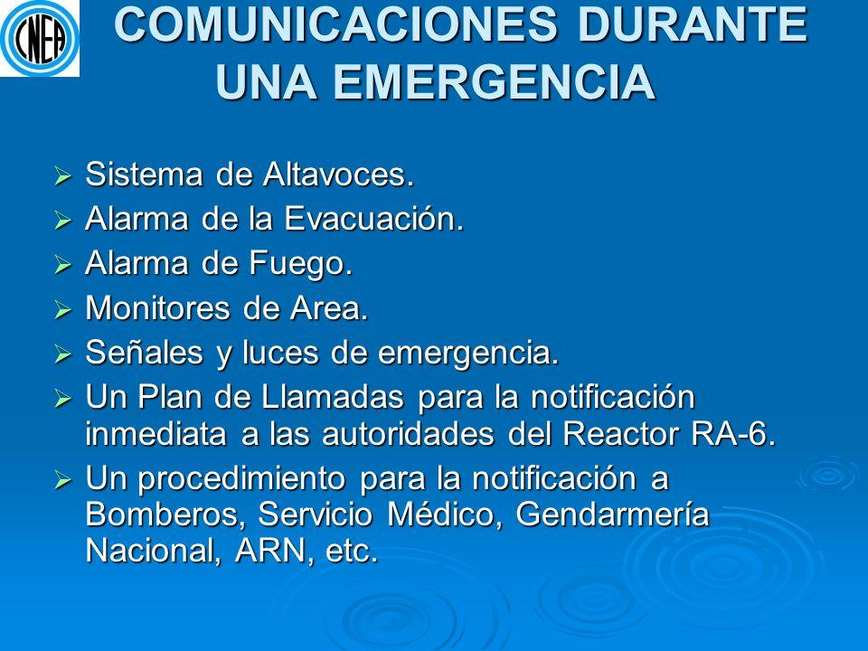 COMUNICACIONES DURANTE UNA EMERGENCIA COMUNICACIONES DURANTE UNA EMERGENCIA Sistema de Altavoces. Sistema de Altavoces. Alarma de la Evacuación. Alarm