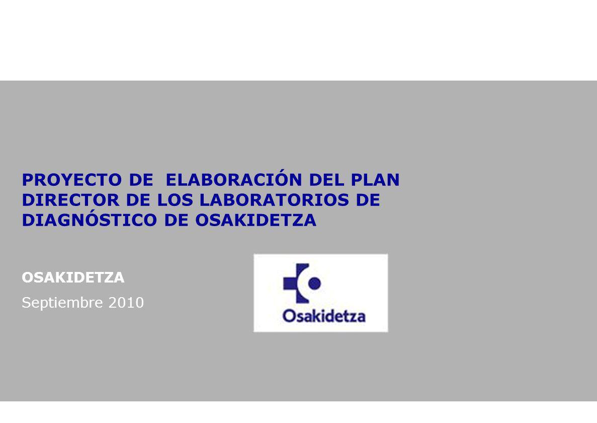 PROYECTO DE ELABORACIÓN DEL PLAN DIRECTOR DE LOS LABORATORIOS DE DIAGNÓSTICO DE OSAKIDETZA OSAKIDETZA Septiembre 2010