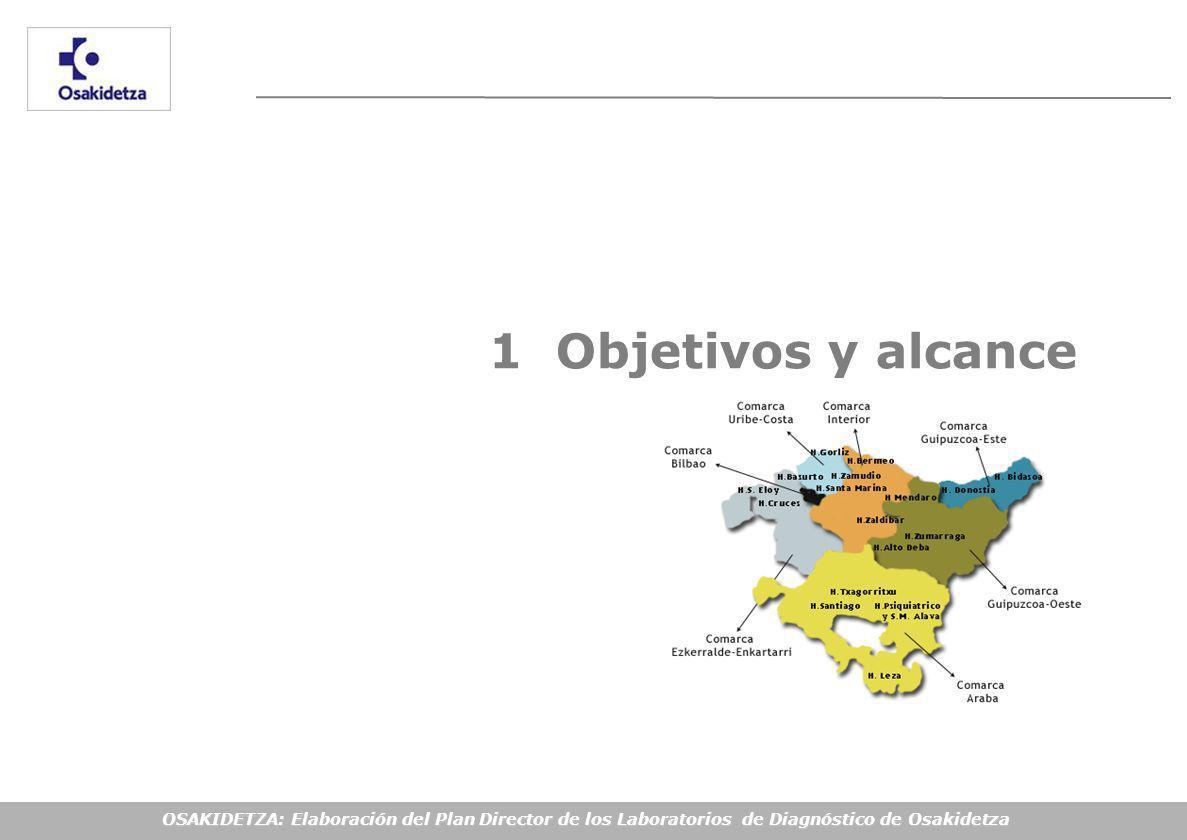 OSAKIDETZA: Elaboración del Plan Director de los Laboratorios de Diagnóstico de Osakidetza 1 Objetivos y alcance