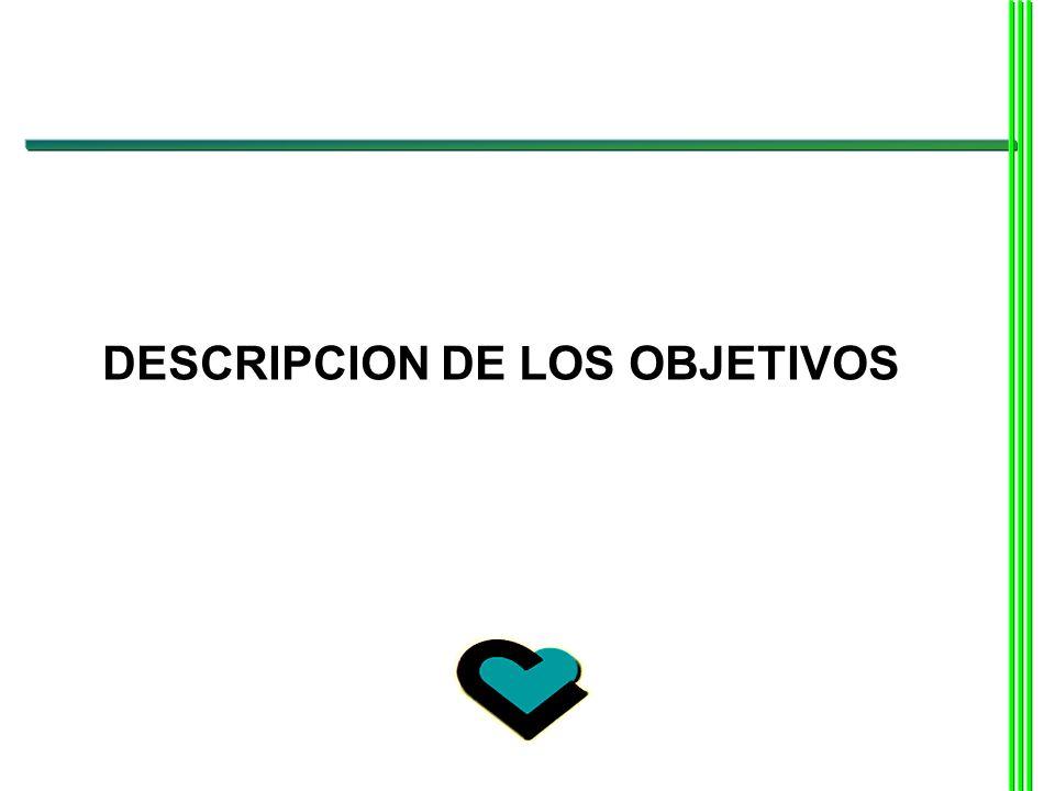 DESCRIPCION DE LOS OBJETIVOS