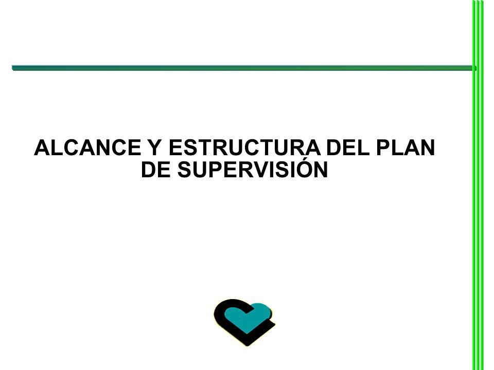 ALCANCE Y ESTRUCTURA DEL PLAN DE SUPERVISIÓN