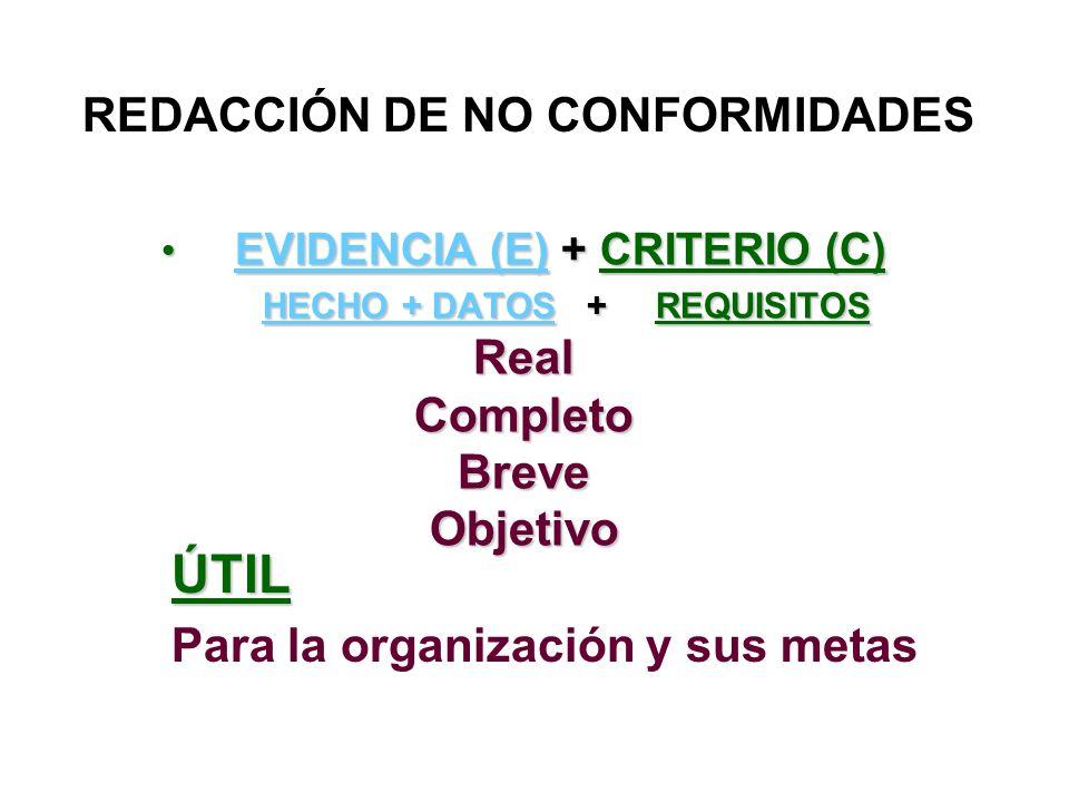 EVIDENCIA (E) + CRITERIO (C) HECHO + DATOS + REQUISITOS Real Completo Breve Objetivo EVIDENCIA (E) + CRITERIO (C) HECHO + DATOS + REQUISITOS Real Comp