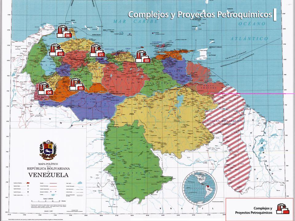 Patria, Socialismo o Muerte Venceremos Mapa de venzuela con los complejos