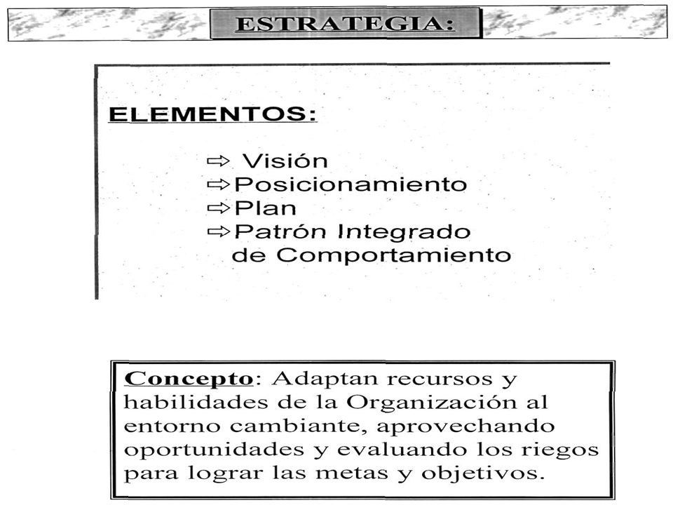 VISIÓN VISIÓN: Modelo de Tensión Creativa Realidad Actual ¿Qué somos.
