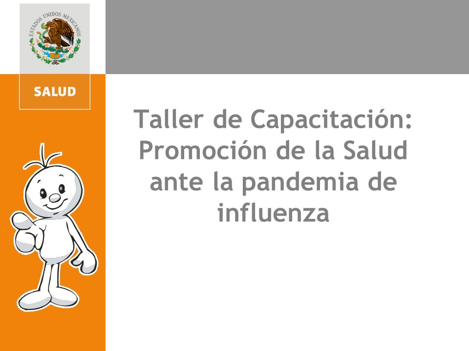 4. Participación para la acción comunitaria Taller de Capacitación: Promoción de la Salud ante la pandemia de influenza