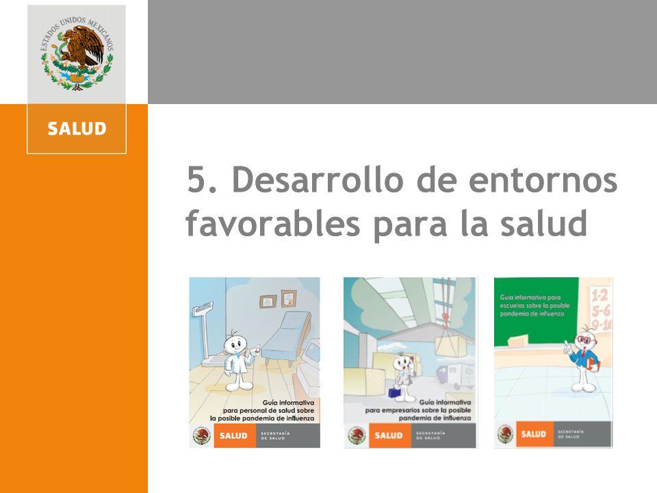 4. Participación para la acción comunitaria 5. Desarrollo de entornos favorables para la salud