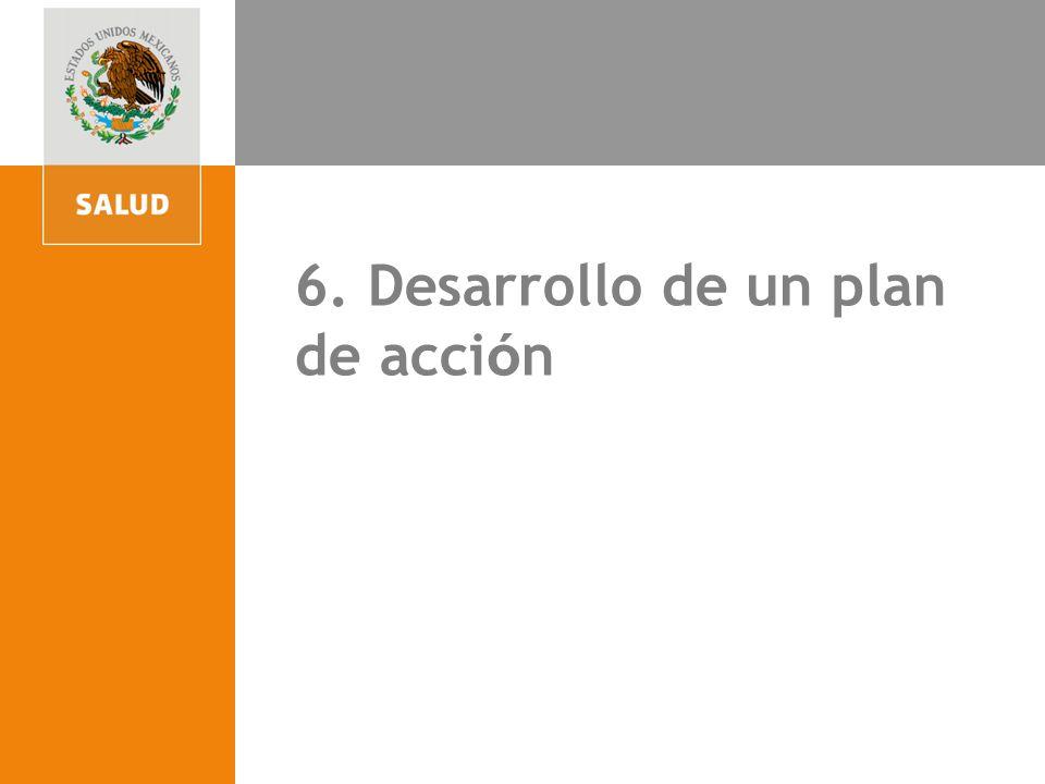 4. Participación para la acción comunitaria 6. Desarrollo de un plan de acci ó n