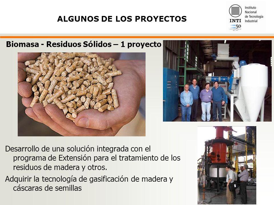Desarrollo de una soluci ó n integrada con el programa de Extensi ó n para el tratamiento de los residuos de madera y otros.