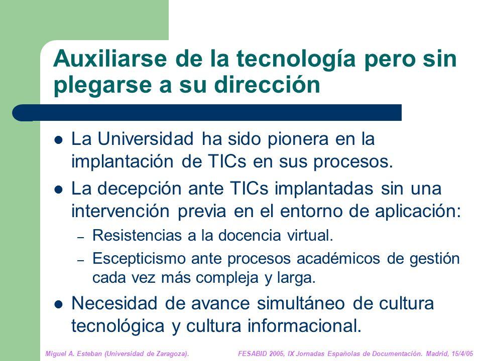 Miguel A. Esteban (Universidad de Zaragoza). FESABID 2005, IX Jornadas Españolas de Documentación.