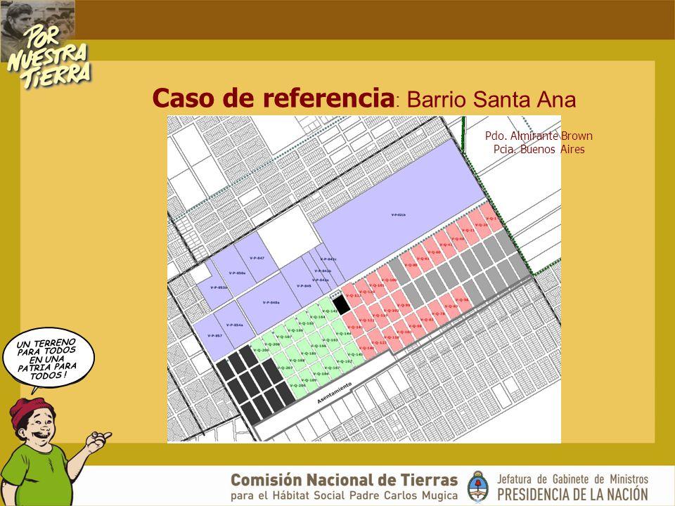UN TERRENO PARA TODOS EN UNA PATRIA PARA TODOS ! Caso de referencia : Barrio Santa Ana Pdo. Almirante Brown Pcia. Buenos Aires