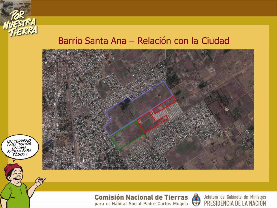 UN TERRENO PARA TODOS EN UNA PATRIA PARA TODOS ! Barrio Santa Ana – Relación con la Ciudad