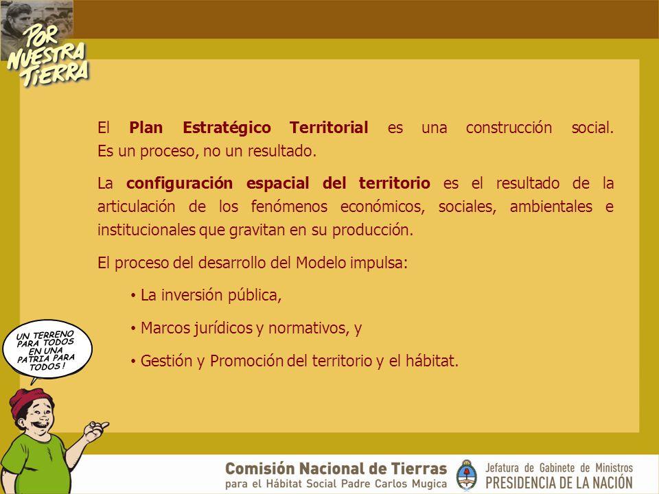 UN TERRENO PARA TODOS EN UNA PATRIA PARA TODOS ! El Plan Estratégico Territorial es una construcción social. Es un proceso, no un resultado. La config