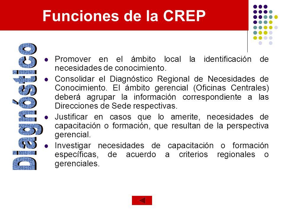 Promover en el ámbito local la identificación de necesidades de conocimiento. Consolidar el Diagnóstico Regional de Necesidades de Conocimiento. El ám