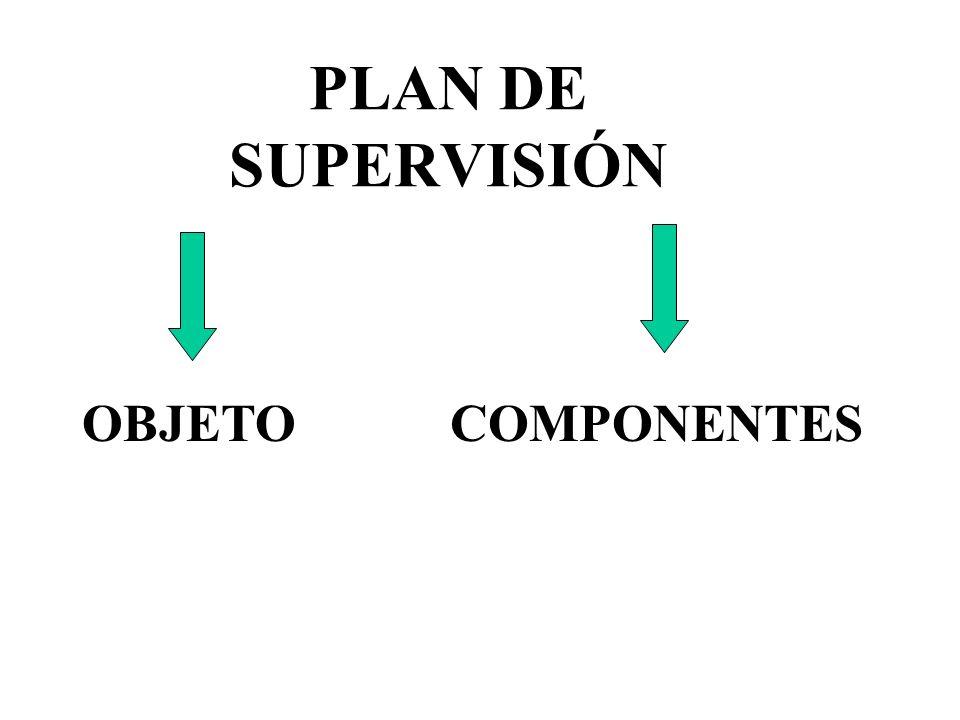 PLAN DE SUPERVISIÓN COMPONENTESOBJETO
