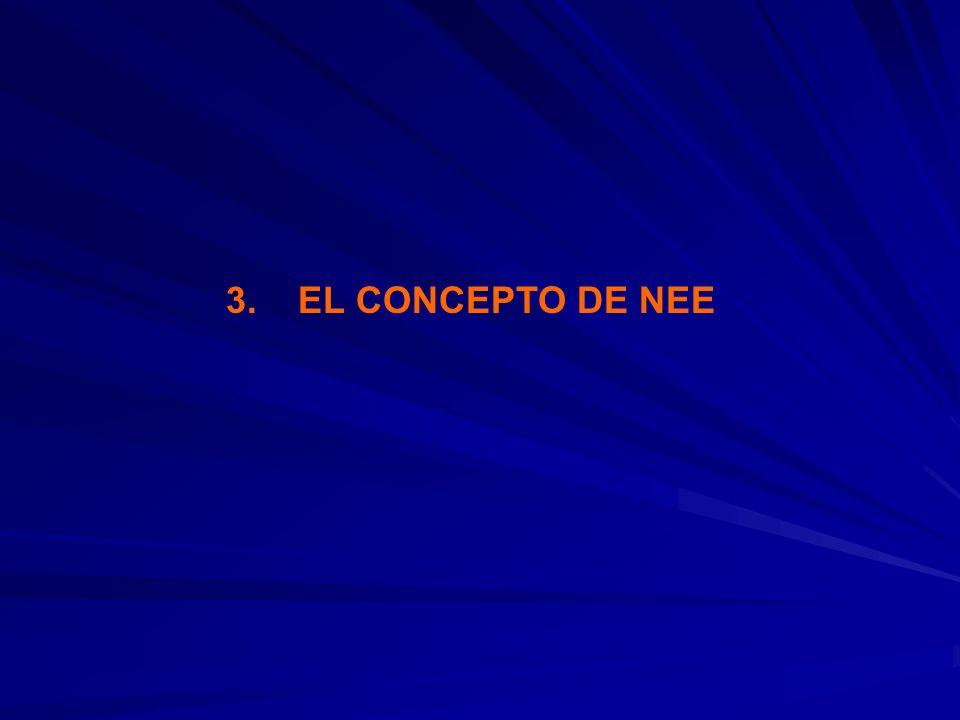 3. EL CONCEPTO DE NEE