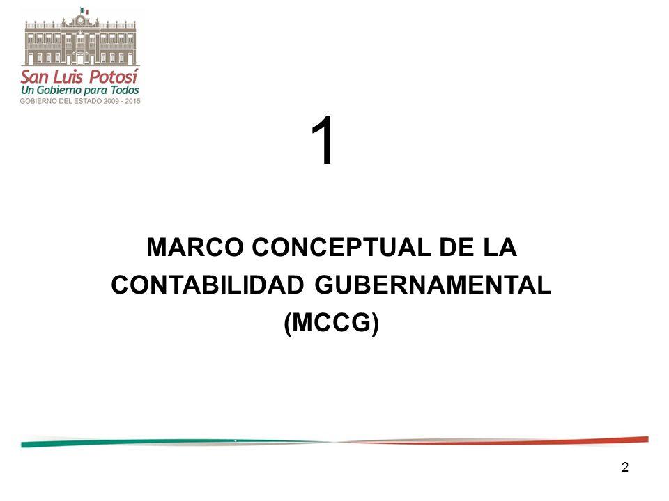 2 MARCO CONCEPTUAL DE LA CONTABILIDAD GUBERNAMENTAL (MCCG) 1