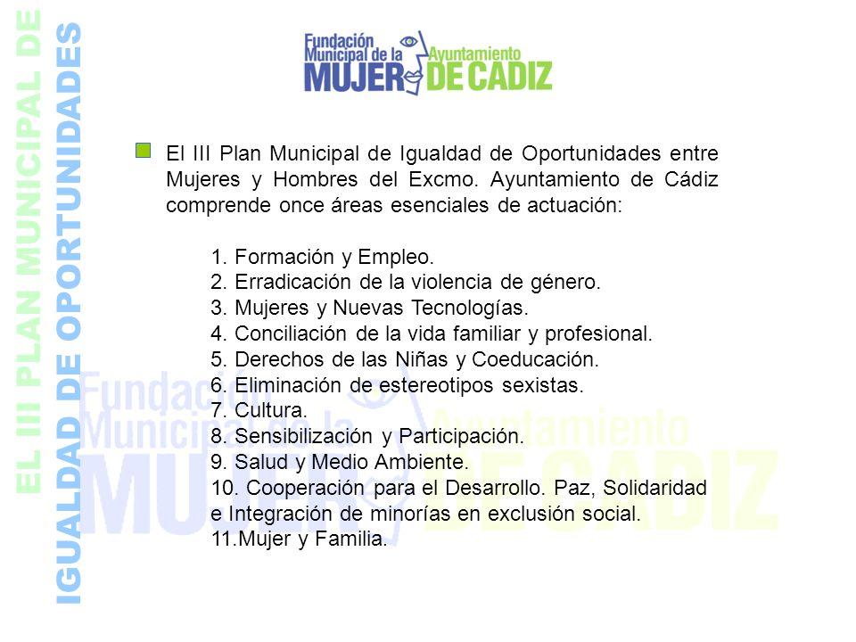 EL III PLAN MUNICIPAL DE IGUALDAD DE OPORTUNIDADES El III Plan Municipal de Igualdad de Oportunidades entre Mujeres y Hombres del Excmo. Ayuntamiento
