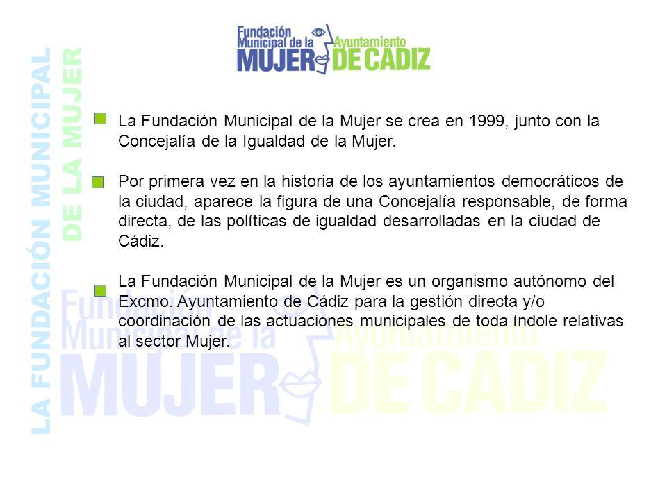 La Fundación Municipal de la Mujer se crea en 1999, junto con la Concejalía de la Igualdad de la Mujer. Por primera vez en la historia de los ayuntami