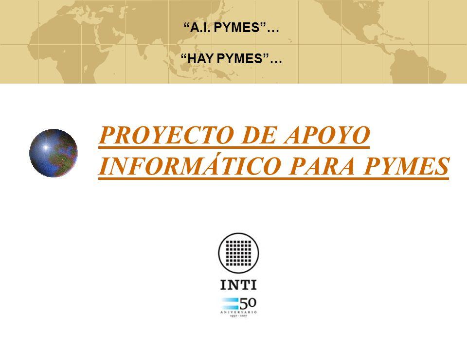 El proyecto A.I.PYMES ha sido desarrollado con el firme interés de beneficiar a las pequeñas industrias siguiendo los objetivos comunes a la Institución, acompañando en la misión y reafirmando la visión presentada por el Instituto Nacional de tecnología Industrial en su Plan Estratégico 2008.