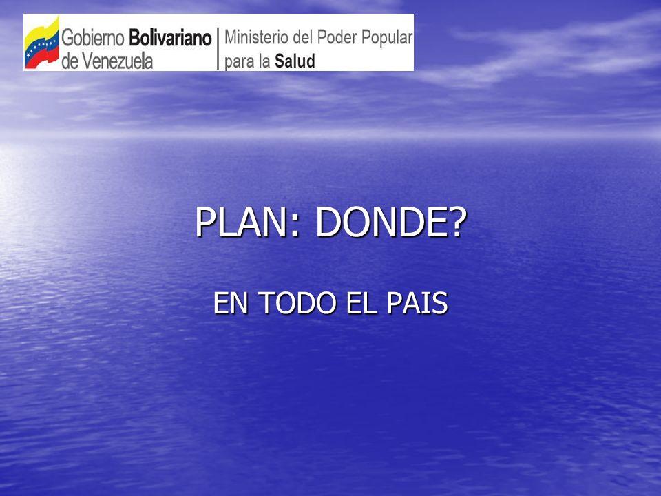 PLAN: DONDE? EN TODO EL PAIS