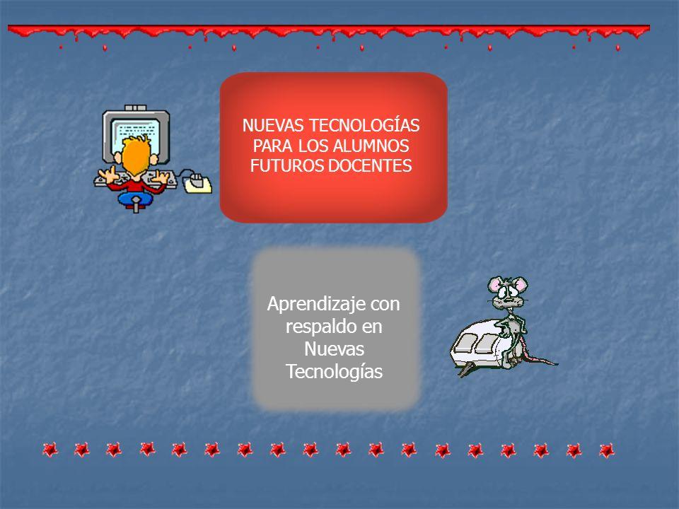 Aprendizaje con respaldo en Nuevas Tecnologías NUEVAS TECNOLOGÍAS PARA LOS ALUMNOS FUTUROS DOCENTES