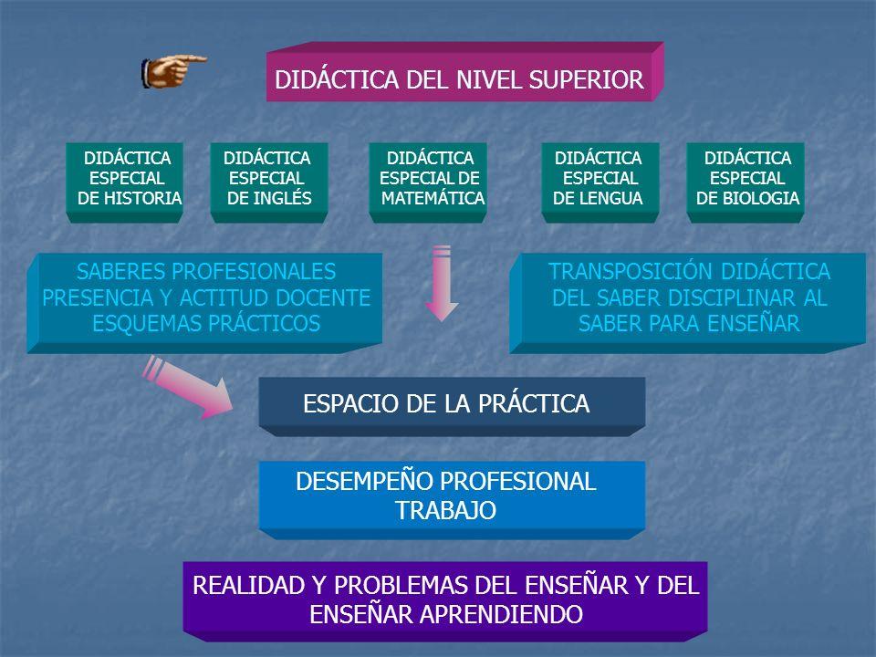 DIDÁCTICA DEL NIVEL SUPERIOR DIDÁCTICA ESPECIAL DE HISTORIA DIDÁCTICA ESPECIAL DE INGLÉS DIDÁCTICA ESPECIAL DE MATEMÁTICA DIDÁCTICA ESPECIAL DE BIOLOG