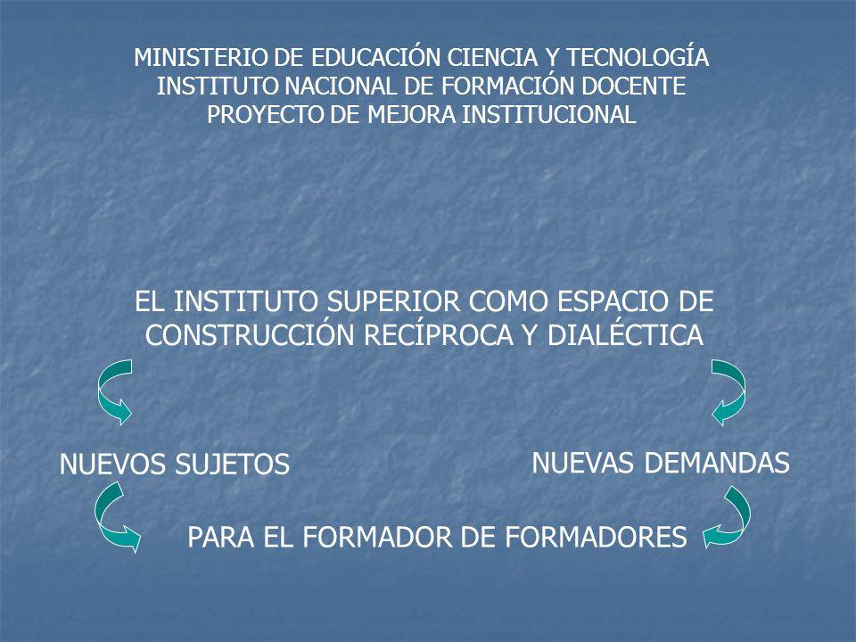 EL INSTITUTO PRESENCIA DINÁMICA EN LA COMUNIDAD APERTURA DEL INSTITUTO A LA COMUNIDAD Y A LA ESCUELA DEL SISTEMA REVISTA ACADÉMICA INSTITUCIONAL Organizar y potenciar la presencia del Instituto en los polimodales y medios de comunicación Recopilación de los desarrollos teóricos y propuestas del plan de mejora CUARTA ETAPA