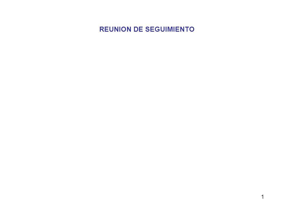1 REUNION DE SEGUIMIENTO