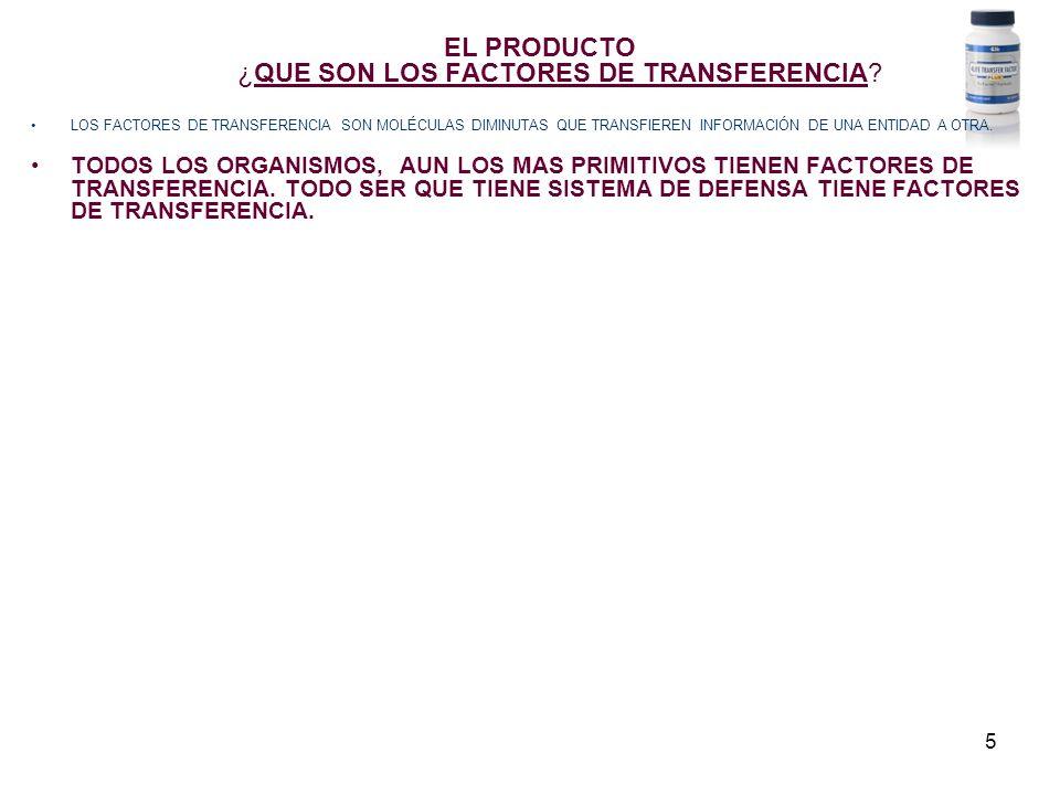 5 EL PRODUCTO ¿QUE SON LOS FACTORES DE TRANSFERENCIA.